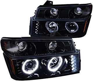 Spec-D Tuning 2LCLHP-COL04HG-TM Corner Headlight (Colorado GMC Canyon Glossy Black Projector Signal Lamp)