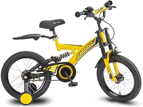 Fahrräder Jungen und Mädchen im Freien Fahrrad Sommer Reisen 14 Zoll 16 Zoll Fahrrad Geeignet for Kinder im Alter von 5 bis 15 (Farbe: Gelb, Größe: 14 Zoll) lalay ( Color : Yellow , Size : 16inch )