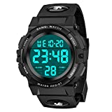 Dreamingbox Jungen Digitaluhren, Kinder Sport 5 ATM wasserdicht Digital Uhren mit Alarm/Timer/EL...