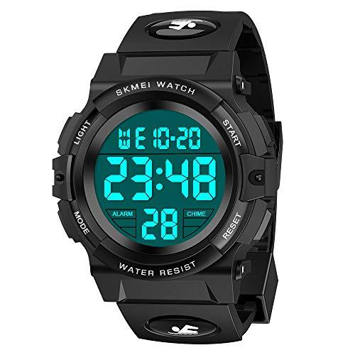 Dreamingbox Jungen Digitaluhren, Kinder Sport 5 ATM wasserdicht Digital Uhren mit Alarm/Timer/EL Licht Kinderuhren Outdoor Armbanduhr für Jugendliche Jungen Jungen Geschenke 5-12 Jahre