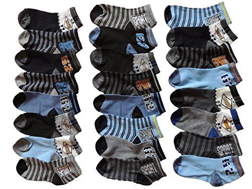 SOFTSAIL 10 Stück Jungen Socken Größe 17-27 (23-27)