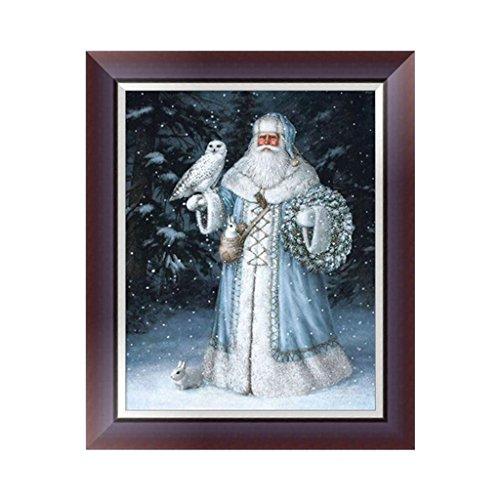Kit de pintura de diamante 5D, diseño de Papá Noel, punto de cruz, pintura de diamante por números, pintura de diamantes, pintura de diamantes, obra artística, para decoración de pared principal