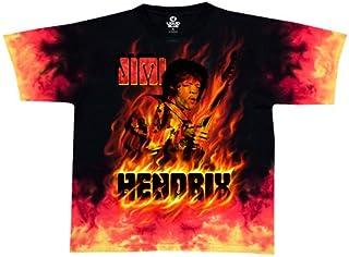 Liquid Blue Men's Jimi Hendrix Jimi Fire Short Sleeve T-Shirt