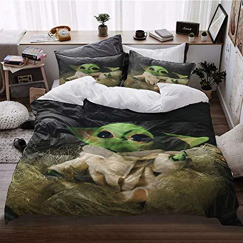 GD-SJK Amacigana Baby Yoda - Juego de ropa de cama infantil con impresión digital 3D (Baby Yoda 9,200 x 230/50 x 75)