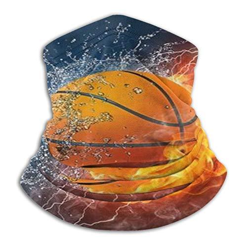 Pelota de baloncesto Fuego Agua Raster Cuello Polaina Sombreros Cara Máscara solar Bufanda mágica Bandana Balaclava