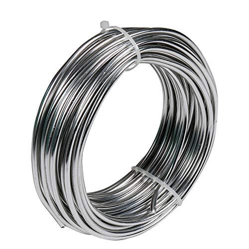 Filo Alluminio per Bigiotteria Argentato, 3mm di Spessore, 10 Metri di Lunghezza- Matassa Filo di Ferro Modellabile - Filo Metallico per Bigiotteria per Gioielleria, Bricolage, Scultura ed Artigianato