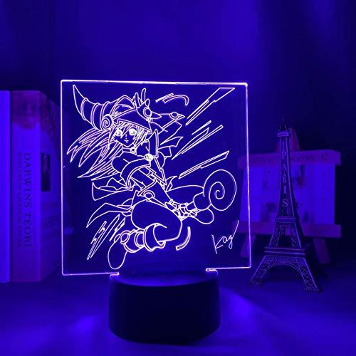 SCNYCUL 3D LED lámpara mesa luz nocturna Yugioh Mago Oscuro7 colors niño regalo de fiesta de Navidad decoración hogar
