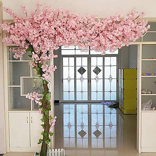 LNDDP Künstliche Blume Kirschblütenbaum, gefälschte Weinreben Blumen für zu Hause Hochzeitsfeier Garten Büro Dekoration Seidenpflanzen