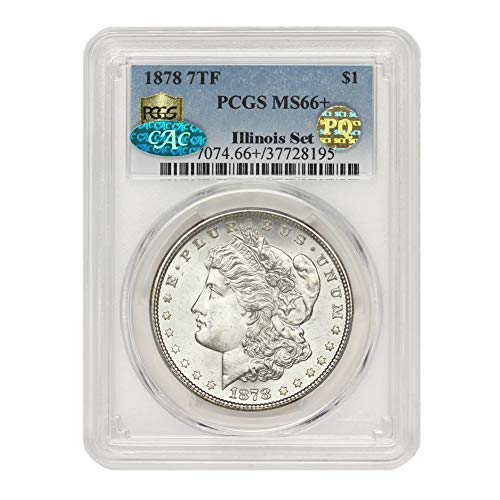 1878 American Silver Morgan Dollar MS-66+ PQ Approved Illinois Set by CoinFolio $1 MS66+ PCGS
