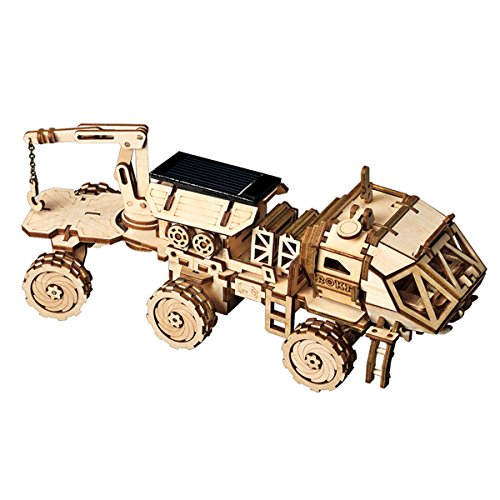 ROKR Assemble Solar Energy Powered Cars-Moveable 3D Wooden Puzzle...