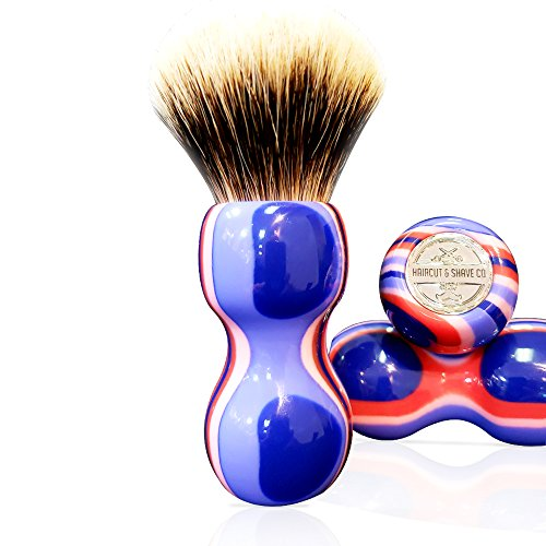 Our #5 Pick is the Haircut & Shave Co. Synthetic Shaving Brush