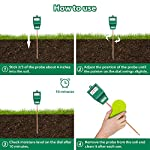 Soil Moisture Meter, S10 Soil Test Kit, Dr.meter Moisture Meter for Plants, Plant Water Meter for Garden Lawn Farm… 13 ▶ 【Compact & Portable】 Have you been sticking your finger in the soil hoping to feel when it's time to water? Why not eliminate the guesswork and keep your hands clean when you use the Dr.meter Soil Moisture Sensor Meter! Know the right time to water your garden, farm, lawn and plants, anytime. ▶ 【Easy to Read】No experience required--while this machine is sophisticated, it's not complicated! With an interface using ten scales and a color-coded reading system from red, green to blue, it's never been more straightforward reading your soil moisture. ▶ 【No Batteries Required】Who needs batteries or electricity? Just plug stick it into the ground and get a reading in no time!