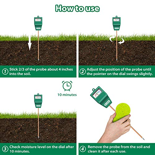 Dr. Meter Soil Moisture Sensor for Garden