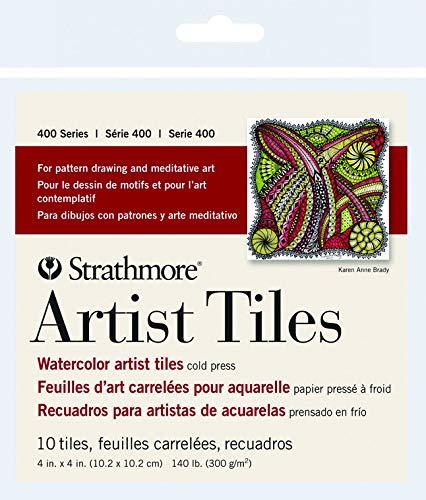 10 hojas Azulejos de acuarela Strathmore 400 Series