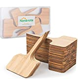 HOMENOTE 28pcs Bamboo Plant Labels (6 x 10 cm) Vegetable Garden...