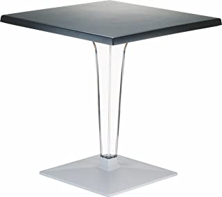 Compamia Ice Werzalit Top Dining Table in White