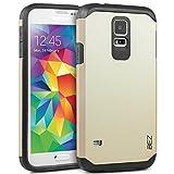 Coque Samsung Galaxy S5 / S5 NEO, Housse Etui Antichoc Survivor Double Protection pour Samsung Galaxy S5 / S5 NEO Resistante - Or