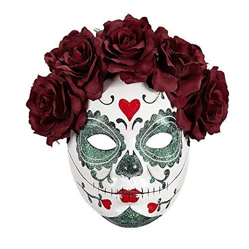 Widmann Masque Dia de los muertos, roses Womens, Taille unique, vd-wdm04787