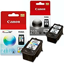 Canon PG-210 XL and CL-211 XL Ink Pack Bundle, Compatible to MP495,MP280,MP490,MP480,MP270,MP240, MX420,MX410,MX350,MX340 ...