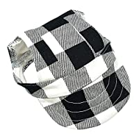 S Black Plaid Summer Dog Hat Breathable Baseball Sun Cap Accessories Pet Outdoor Hats Caps With Ear Hole For Small Medium Large Dogs