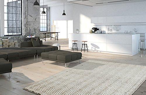 Obsession Moderner Teppich My Forum Landhaus Teppich, Scandinavian Design, in aktueller Strickoptik, in weichen naturfarben (120 x 170 cm, for 720 Ivory Creme Natur)