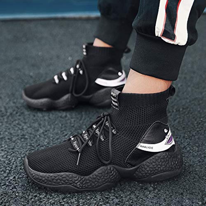 NANXIEHO Jugend Trend Persönlichkeit Hip Hop Fliegen Weben Dicke Unterseite Atmungsaktive Freizeit Sport Herrenschuhe B07GSZ8696  Nutzen Sie Materialien voll aus