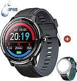 Smartwatch Reloj Inteligente con un Correa Verde Oscuro Reemplazable Impermeable IP68 Pulsera Actividad Monitor de Sueño Calorías Podómetro Pulsómetro Notificación de Llamada y Mensaje Hombre Mujer