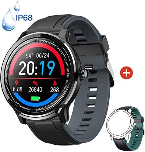 smartwatch ip68 Smartwatch Orologio Intelligente con 1.3   Schermo a colori tattile completo IP68 Fitness Tracker Cardiofrequenzimetro Pressione Sanguigna Monitor Ossigeno Nel Sangue Nuoto per Android e iOS