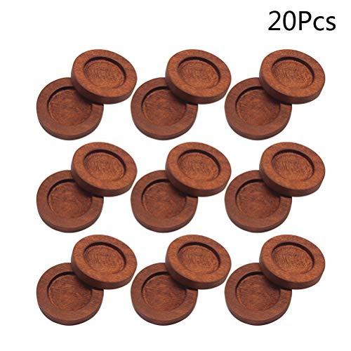 Artibetter 20pcs Holz Cabochon Ohrstecker Basis für DIY Schmuck Machen