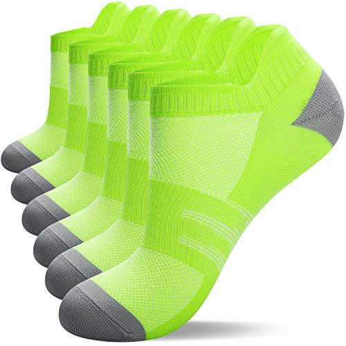 Lapulas 8 pares de calcetines deportivos de algodón calcetines de tobillo calcetines de entrenamiento para hombres mujeres mujeres de corte bajo anti ampollas calcetines atléticos Verde*8 39-42