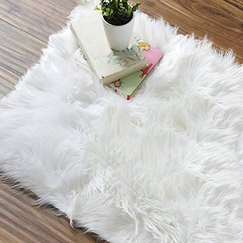 XIGG Super zacht pluizig tapijt, pluizig imitatiebont sjaal tapijt, Shaggy gebied tapijten pads extra zacht en Comfy woonkamer Soft Touch dikke stapel woonkamer gebied tapijten