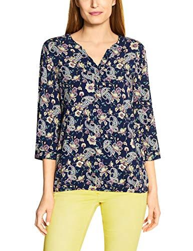 Cecil Damen TOS Paisley Print Blouse Bluse, deep Blue, XX-Large