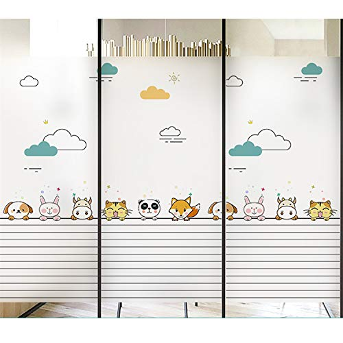 Glas Sticker Decoratie Personality Creative Bathroom Window Isolatie Film Light Translucent Opaque Anti-light Window Paper (Color : 5, Size : 100x100cm)