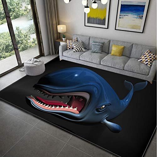 Haiqings Dragon Space Blue Rugs Area Rugs Carpet Floor Carpet Bedroom Doormat Non-Slip Mat Living Room 160x230cm