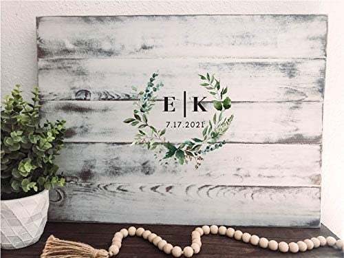 PotteLove Wedding Guest Max 42% OFF Book Monogram Max 83% OFF Boo Guestbook Sign