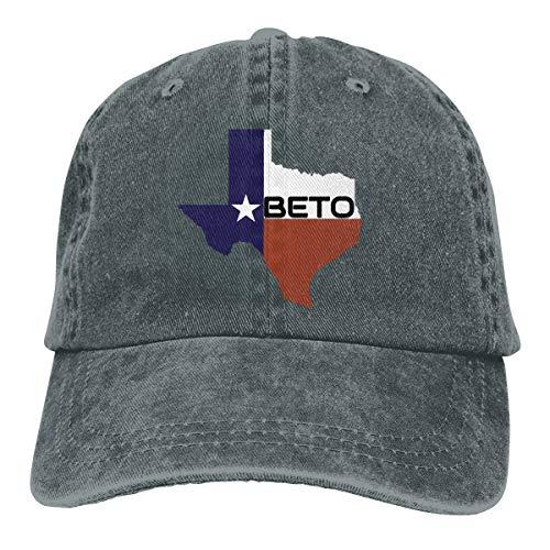NO4LRM Men's Women's We Deserve Beto Texas Cotton Adjustable Peaked Baseball Dyed Cap Adult Washed Cowboy Hat Deep Heather