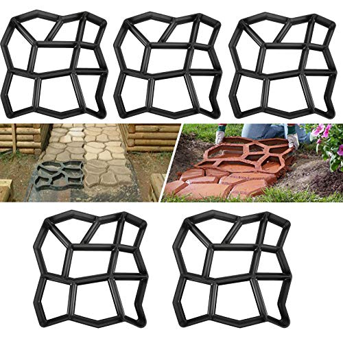 HENGMEI Molde de Pavimento Cemento Molde para acera, molde de empedrado