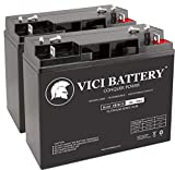 VICI Battery VB18-12 - 12V 18AH Replacement for Friendly Robotics Robomower RL850 Lawn Mower Batteries - 2 Pack