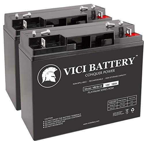 VICI Battery VB18-12 - 12V 18AH Replacement for Friendly Robotics Robomower RL850 Lawn Mower Batteries - 2 Pack