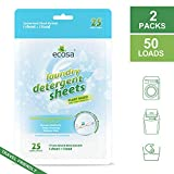 Ecosa Laundry Detergent Sheets(Laundry Strips) - Eco-Friendly, Non-Toxic, Plant-Based, No Artificial Fragrance or Preservatives (Fresh Scent)- 50 Loads