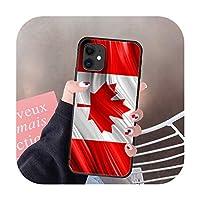 カナダフラグ赤電話ケースカバー船体For IPhone 5 5s se 2 6 6s 7 8 12 Mini Plus X XS XR 11 PRO MAXブラックコークファッション-5-6Plus or 6SPlus