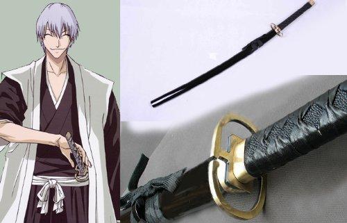 FarEastDayDream Dream2Reality Cosplay Bleach Gin Ichimaru Kamishininoyari Replik Schwert mittel gekohltem Stahll Massenware Katana Schwert