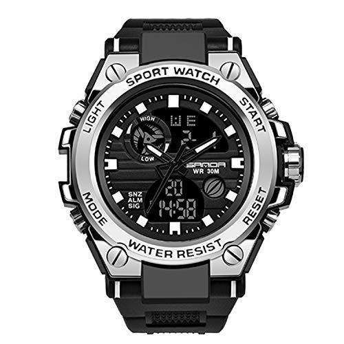 RORIOS Herren Militär Sportuhr Digital Quarz Uhr mit Silikon Armband Digitaluhren für Männer Jugendliche Elektronische Uhr mit Alarm Timer