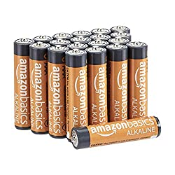 Amazon Basics 20 Pack AAA High-Performance Alkaline Batteries, 10-Year Shelf Life, Easy to Open Valu