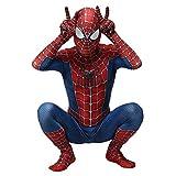 Trajes de Hombre araña Super héroe del Mono de los niños clásicos de Halloween Pretend Grupo de Disfraces Cosplay Spiderman Traje Anzug Spandex/Lycra 3D,140~150cm