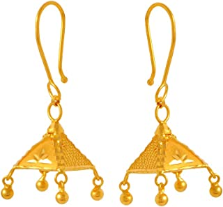 P. C. Chandra Jewellers 22k (916) Yellow Gold Jhumki Earrings for Women