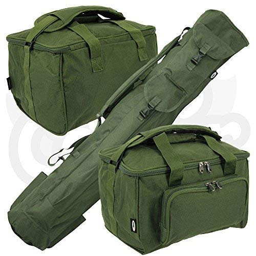 Carp Coarse Fishing Luggage Set Quiver Rod holdall & Deluxe Padded Carryall Made By NGT