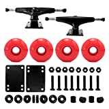 VJ 5.0 Skateboard Trucks (Black), Skateboard Wheels 52mm, Skateboard Bearings, Skateboard Pads, Skateboard...