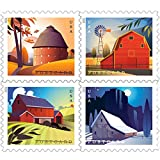Barn Postcard Forever Postage Stamps Sheet of 20 US Postal First Class American History Wedding Celebration Anniversary (20 Stamps)