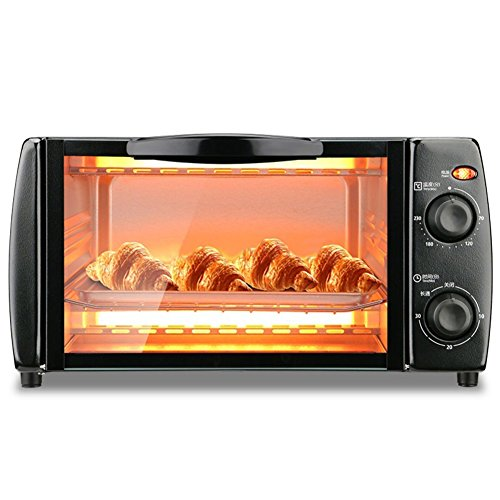 DULPLAY Toaster Oven,Best Convection,Mini,10L Capacity,Digital Dining,Includes Broil Rack,Countertop Oven Black Digital Polished Stainless Toast Home Kitchen-Black 37.6x28.7x20.7cm(15x11x8inch)
